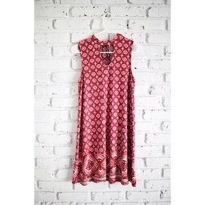 No Boundaries Boho Burgundy Dress